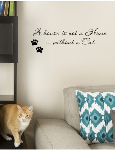 A House is not a home without a cat sisustustarra