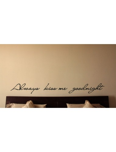 Always kiss me goodnight 2 sisustustarra
