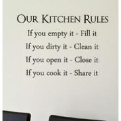 Our kitchen rules sisustustarra