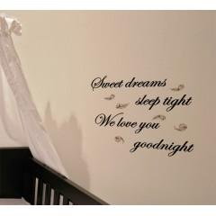 Sweet dreams sleep tight 2 sisustustarra