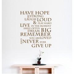 Have hope sisustustarra