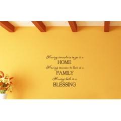 Home Family Blessing sisustustarra