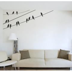 Linnut langoilla sisustustarra