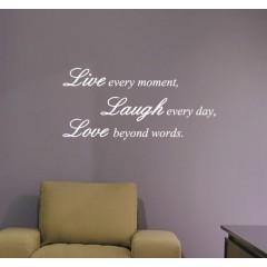 Live every moment sisustustarra