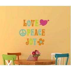 Love Peace Joy sisustustarra